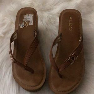 Aldo Brown Sandals Size 8.5